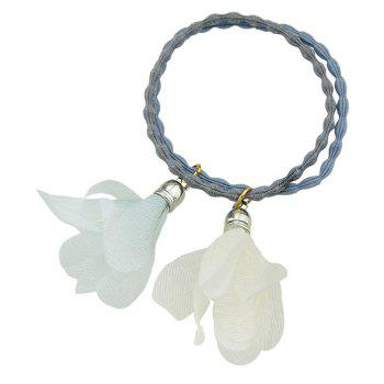 Floral Embellished Elastic Hair Bands - WHITE WHITE