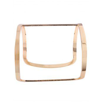 Hollow Out Metal Wide Cuff Bracelets - GOLDEN