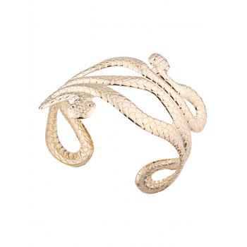 Multilayered Punk Snake Shape Cuff Bracelets -  GOLDEN