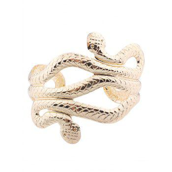 Multilayered Punk Snake Shape Cuff Bracelets - GOLDEN GOLDEN