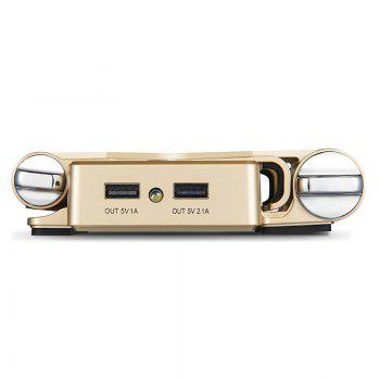 3 In 1 Bluetooth Speaker Power Bank with Phone Holder - GOLDEN 10000MAH