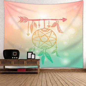 Arrow Dreamcatcher Imprimer Wall Art Tapestry - multicolorcolore W91 INCH * L71 INCH