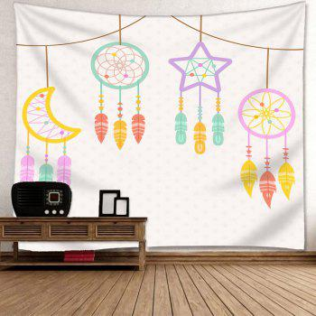 Wall Art Star Moon Dreamcatcher Print Tapestry - OFF WHITE OFF WHITE