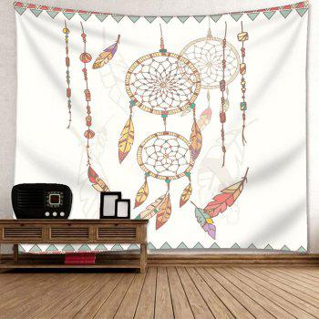 Wall Decor Dreamcatcher Tapestry - WHITE W91 INCH * L71 INCH