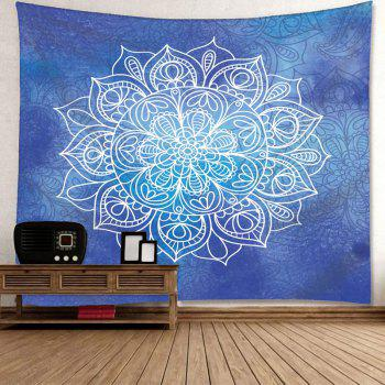Mandala Flower Printed Wall Art Tapestry - BLUE W79 INCH * L59 INCH