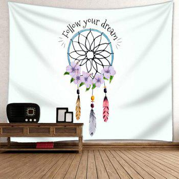 Wall Decor Dreamcatcher Letter Print Tapestry - COLORMIX W91 INCH * L71 INCH