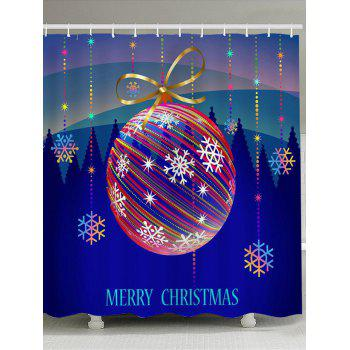 Colored Striped Ball Pattern Waterproof Shower Curtain - COLORFUL COLORFUL