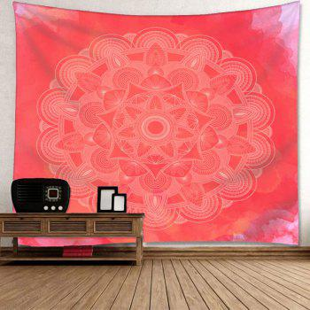 Wall Decor Mandala Flower Print Tapestry - WATERMELON RED W79 INCH * L71 INCH