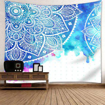 Wall Hanging Mandala Flower Printed Tapestry - COLORMIX W71 INCH * L71 INCH