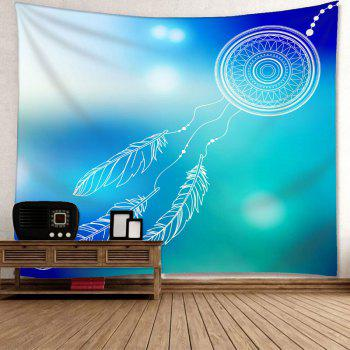 Wall Hanging Dreamcatcher Pattern Decorative Tapestry - BLUE/GREEN W91 INCH * L71 INCH