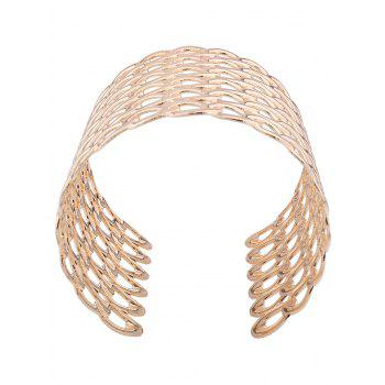 Hollow Out Lock Pattern Metal Bracelets - GOLDEN