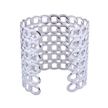 Hollow Out Lock Pattern Metal Bracelets - SILVER