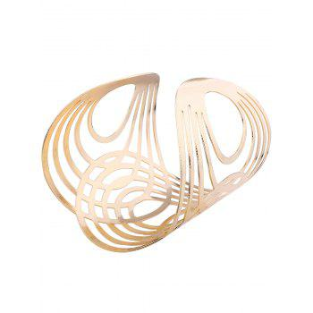 Hollow Out Round Pattern Alloy Cuff Bracelets - GOLDEN