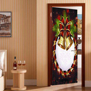 Christmas Floral Bell Door Art Stickers - COLORFUL 38.5*200CM*2PCS