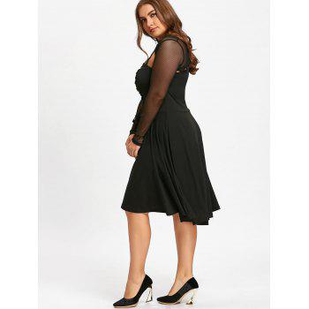 Plus Size Lace Up Cutout Gothic Dress - BLACK 3XL