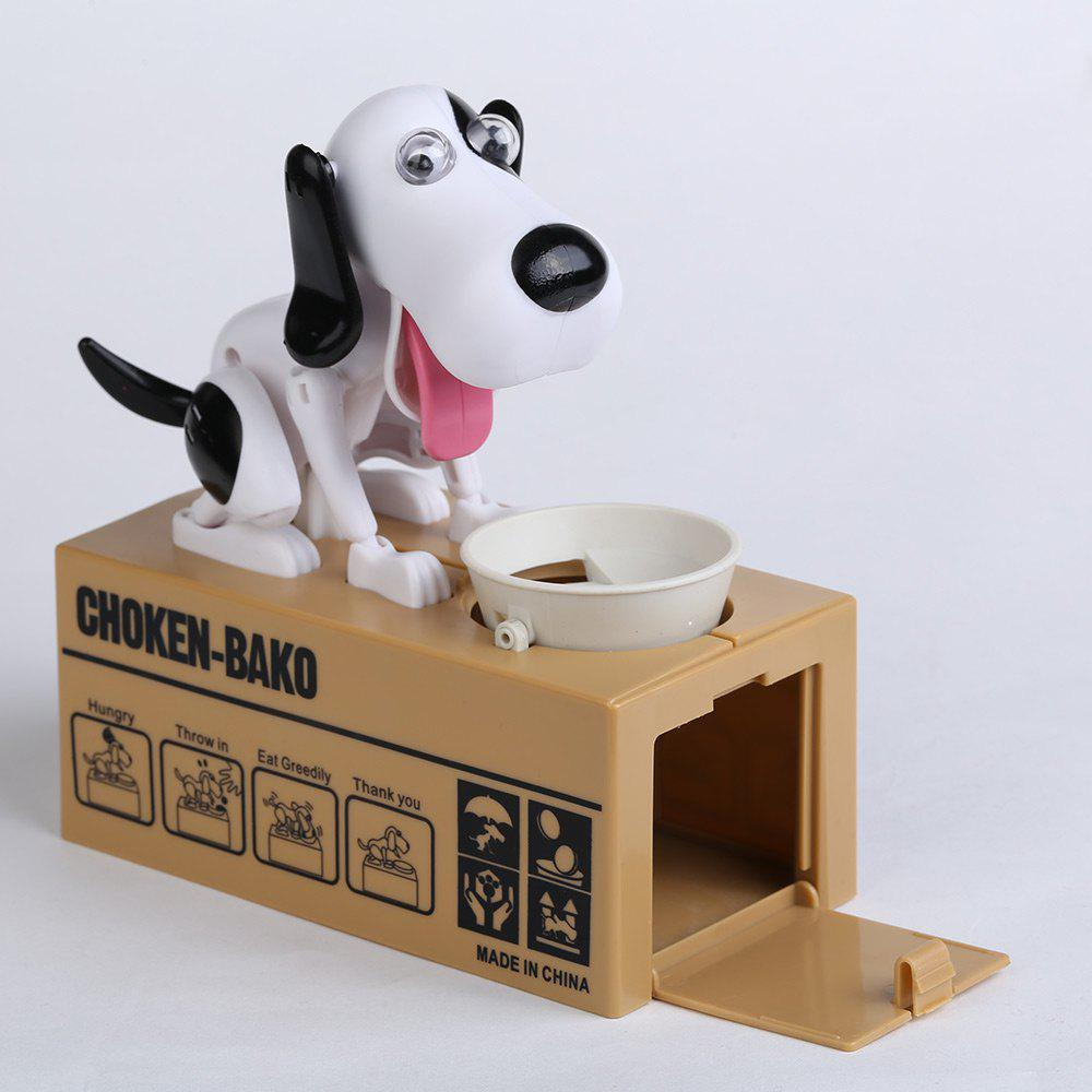 Electric Dog Shape Money Boxes - BLACK WHITE