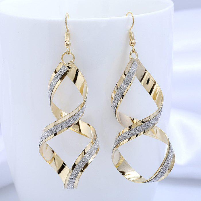 8-shape Geometric Spiral Drop Earrings - GOLDEN