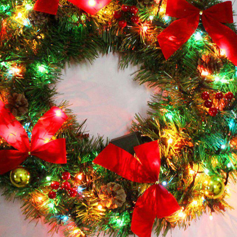 50CM Christmas Wreath with LED Lights - COLORMIX
