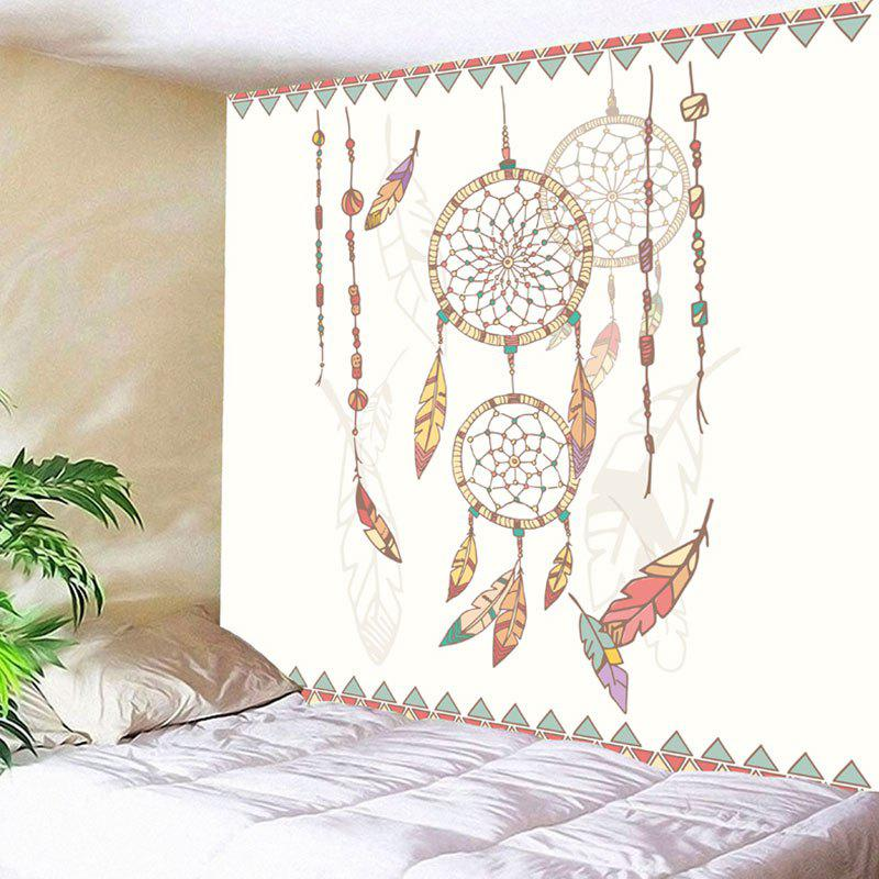 Wall Decor Dreamcatcher Tapestry - WHITE W59 INCH * L59 INCH