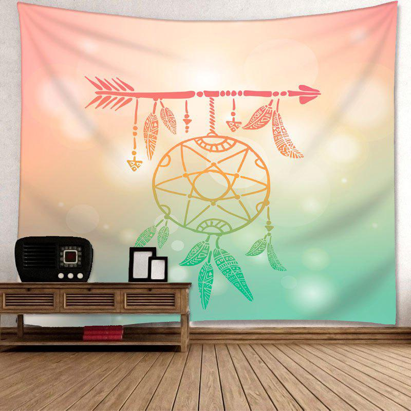 Arrow Dreamcatcher Imprimer Wall Art Tapestry - multicolorcolore W79 INCH * L71 INCH