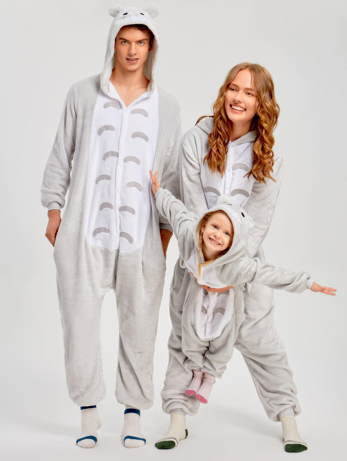 Christmas Cut Cat Animal Onesie Pajama for Family - GRAY KID 100