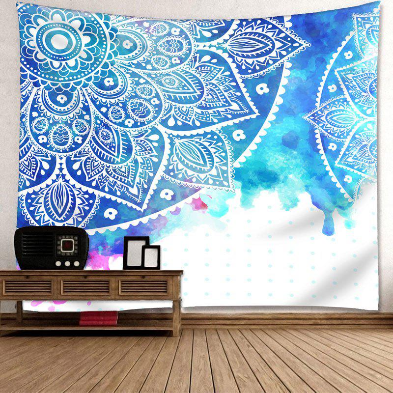Wall Hanging Mandala Flower Printed Tapestry - COLORMIX W91 INCH * L71 INCH