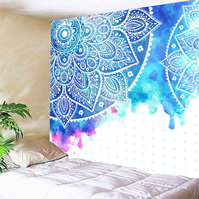 Wall Hanging Mandala Flower Printed Tapestry - COLORMIX W79 INCH * L71 INCH