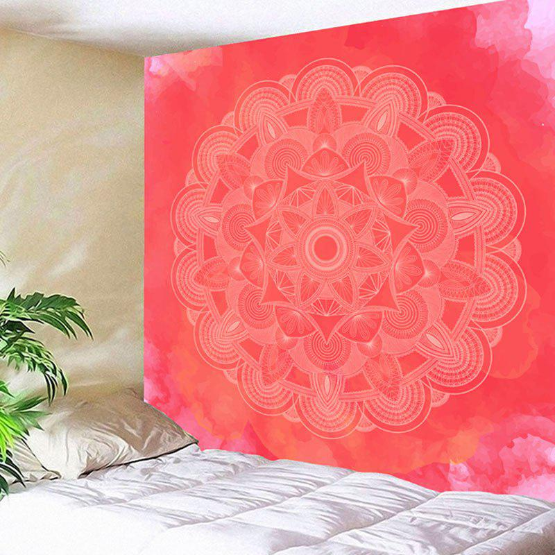 Wall Decor Mandala Flower Print Tapestry - WATERMELON RED W91 INCH * L71 INCH