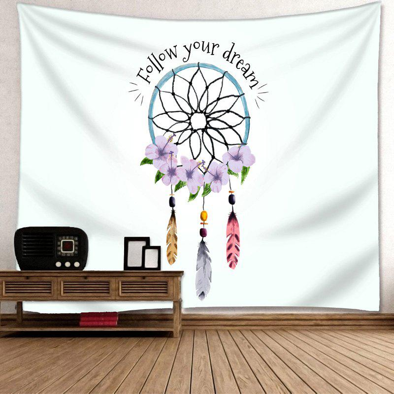 Wall Decor Dreamcatcher Letter Print Tapestry - COLORMIX W59 INCH * L51 INCH