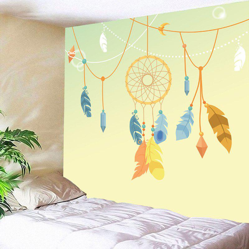 Wall Art Dreamcatcher Pattern Decorative Tapestry - YELLOW W59 INCH * L51 INCH