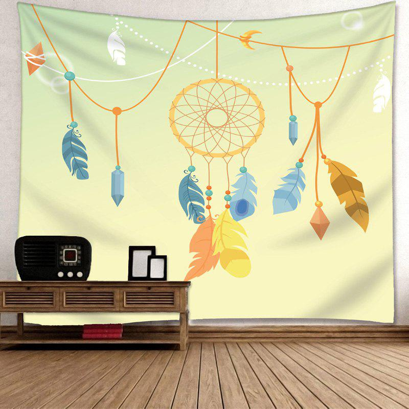 Wall Art Dreamcatcher Pattern Decorative Tapestry - YELLOW W79 INCH * L71 INCH