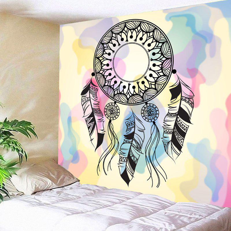 Wall Hanging Dreamcatcher Pattern Tapestry chic fluorescent circular net with feathers dreamcatcher wall hanging decor