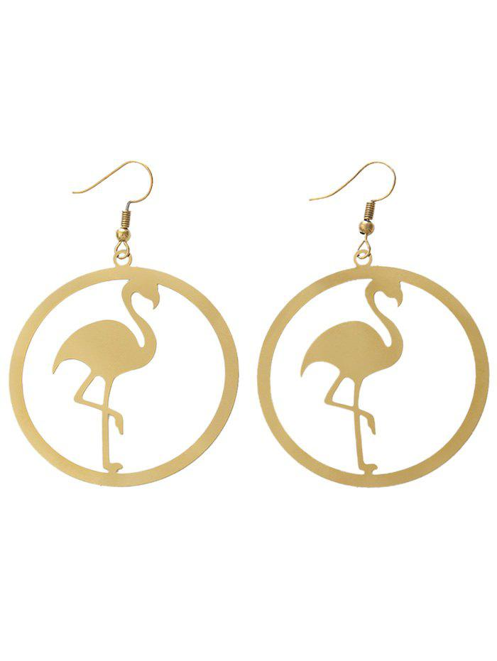 Circle Flamingo Embellished Drop Earrings лиф deseo deseo mp002xw15jfr