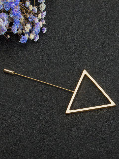 Simple Alloy Triangle Brooch - GOLDEN