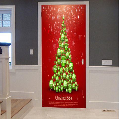 Christmas Balls Tree Pattern Door Stickers - COLORMIX 38.5*200CM*2PCS