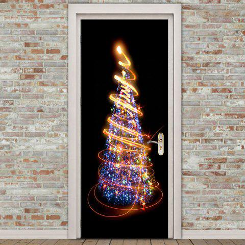 Christmas Tree Starlight Pattern Environmental Removable Door Stickers - COLORFUL 38.5*200CM*2PCS