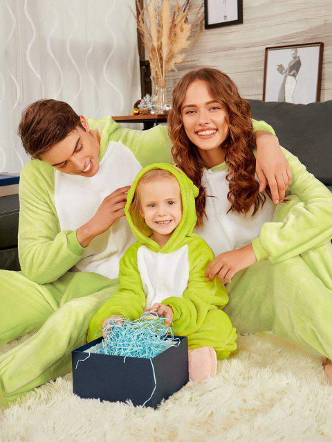 Frog Animal Onesie Matching Family Christmas Pajamas - GREEN GRASS DAD L