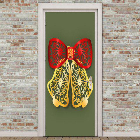 Environmental Removable Paper Cut Bell Printed Door Stickers - COLORFUL 38.5*200CM*2PCS