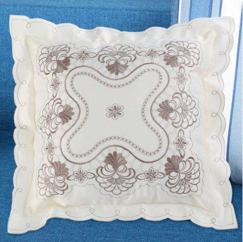 Embroidered Polyester Decorative Throw Pillowcase - COLORMIX W18 INCH * L18 INCH