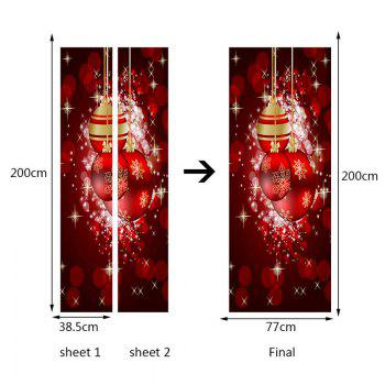 Environmental Removable Light-spot and Baubles Printed Door Stickers - RED 38.5*200CM*2PCS