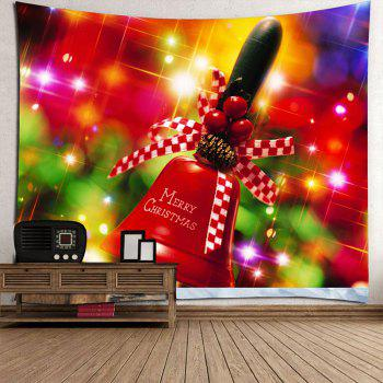 Christmas Handbell Printed Waterproof Wall Tapestry - COLORFUL W79 INCH * L79 INCH