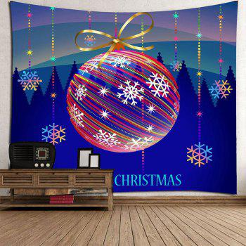 Waterproof Colorful Striped Christmas Ball Printed Wall Tapestry - COLORFUL COLORFUL