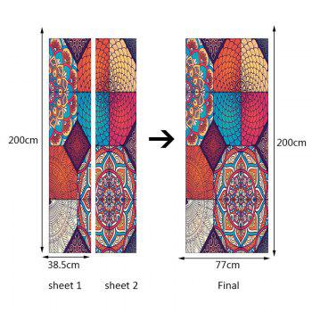 Bohemia Pattern Eco-friendly Decorative Door Stickers - COLORFUL COLORFUL
