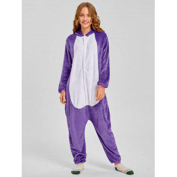 Cute Unicorn Matching Family Christmas Onesie Pajamas - PURPLE DAD M