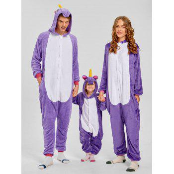 Cute Unicorn Matching Family Christmas Onesie Pajamas - PURPLE PURPLE