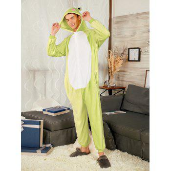 Frog Animal Onesie Matching Family Christmas Pajamas - GREEN GRASS KID 100
