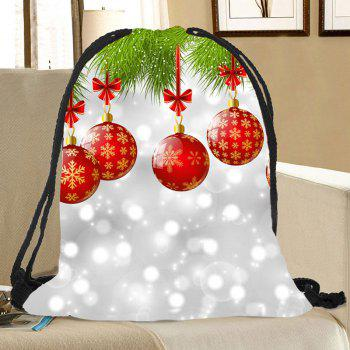 Baubles Pattern Christmas Candy Bag Drawstring Backpack - COLORFUL