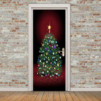 2018 eco friendly removable christmas tree with ornament for Eco friendly doors