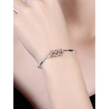 12 Star Sign Silver Bracelet - AQUARIUS
