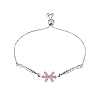 12 Star Sign Silver Bracelet - PISCES